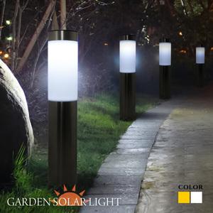 ソーラー ガーデンライト ポールライト 屋外 埋め込み LED おしゃれ 電球色 照度センサー 外構 庭 玄関 照明 外灯 エントランス 花壇 ガーデニング 太陽光充電