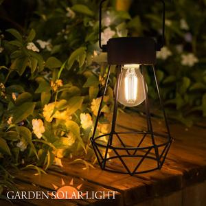 ガーデンライト ソーラー ランタン アンティーク 屋外 防水 電球色 LED 明るい おしゃれ ガーデニング 防災 庭 玄関 室内 インテリア 照明 キャンプ アウトドア