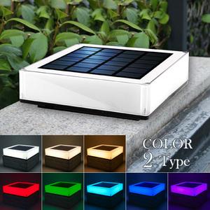 ガーデンライト ソーラーライト キューブ 四角形 ブロック センサーライト 屋外 置型 明るい 白色 暖色 防水 自動点灯 玄関 外灯 庭 太陽光 充電式 おしゃれ