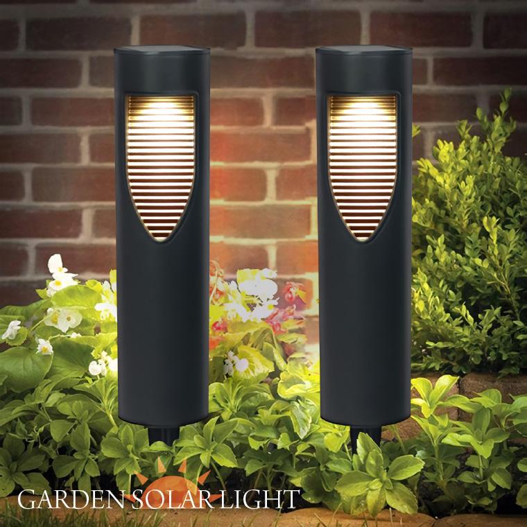 ガーデンライト ソーラー ポールライト 屋外 2個セット 防水 明るい 暖色 電球色 おしゃれ 北欧 庭 玄関 外灯 スポットライト インテリア 照明 ガーデニング