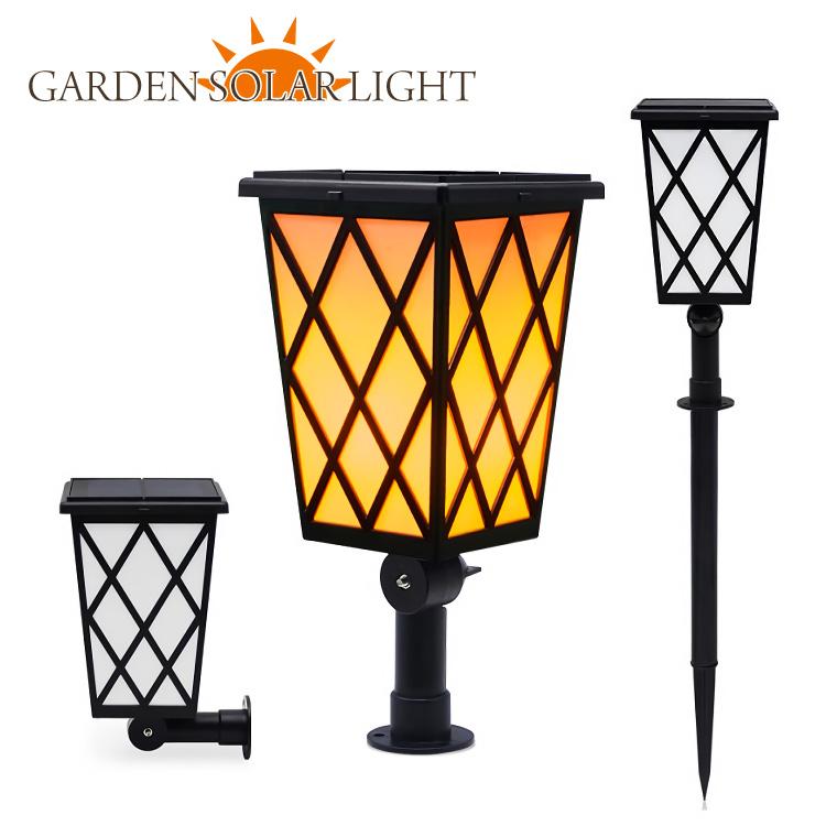 ソーラー ガーデンライト 炎 ランタン アンティーク 屋外 防水 充電 明るい おしゃれ led 暖色 埋め込み 置き型 和風 北欧 インテリア 照明 ろうそく ゆらぎ